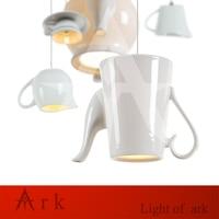 new Simple modern milk pot Tea cup led Pendant lights restaurant passage / bedroom kitchen light ceramic lamp lighting