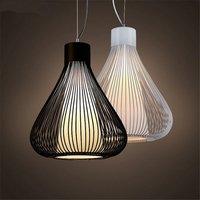 레트로 birdcage 펜 던 트 조명 hanglamp 금속 주방 식당 led 교수형 램프 산업 철 장식 거실 전등