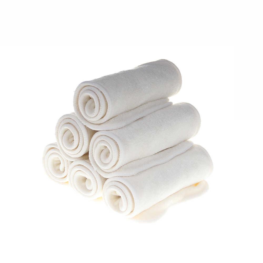 [CHOOEC] 1 Pcs 4 schichten Natürliche Bambus holzkohle Einsätze mikrofaser Tuch Windel Für Baby Windel Waschbar Mehrweg Windel