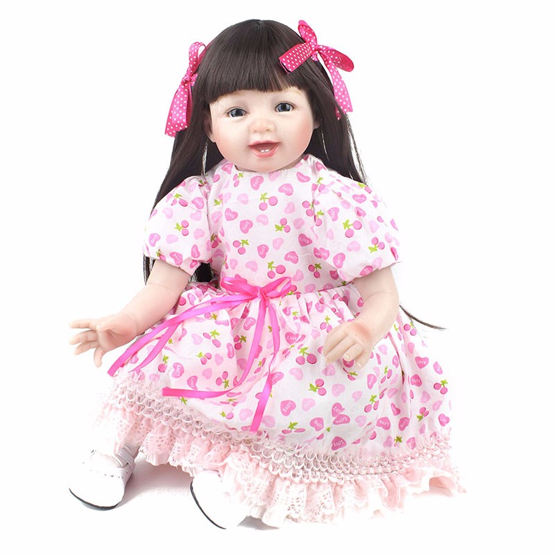 55cm Silicone Reborn Baby Dolls Baby Realistic smile Bebe Lifelike collectible Doll princess modeling Reborn Birthday Xmas gift55cm Silicone Reborn Baby Dolls Baby Realistic smile Bebe Lifelike collectible Doll princess modeling Reborn Birthday Xmas gift