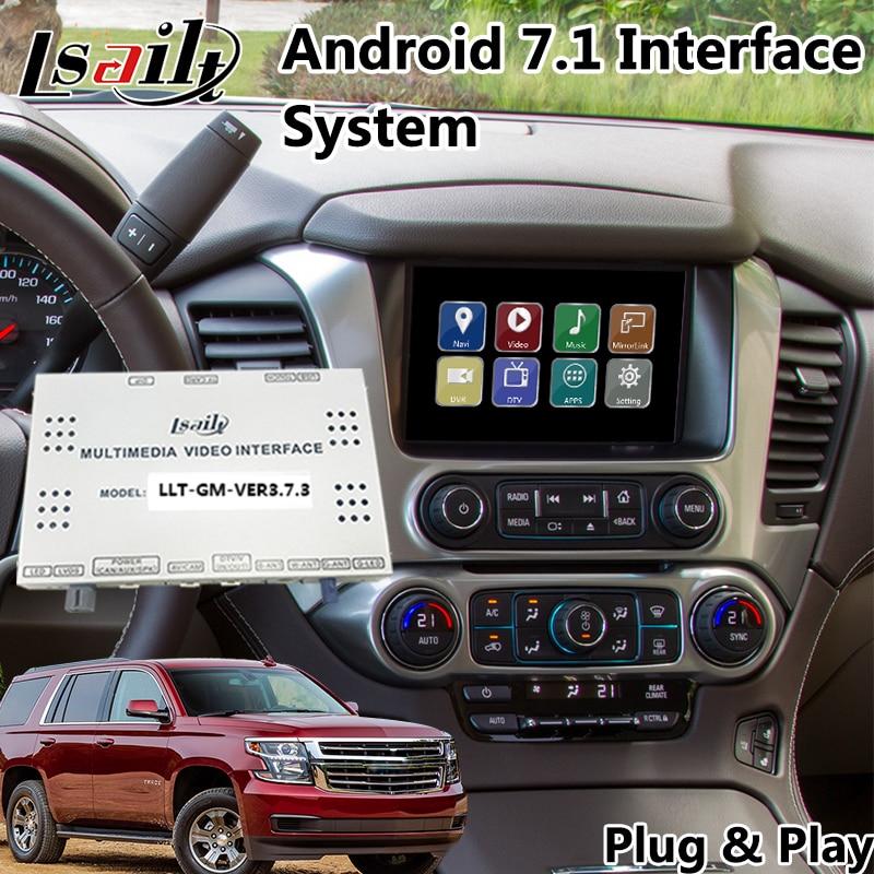 Android 7.1 GPS di Navigazione per Chevrolet Tahoe/Suburban MyLink Sistema 2014-2019, Multimedia Video Interface