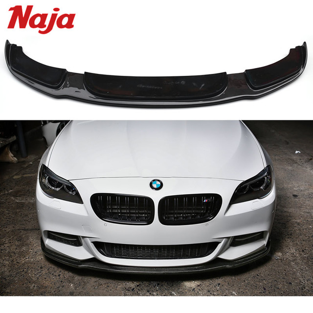 Car Styling Carbon Front Lip For Bmw F10 F11 F18 M Hamann In Bumpers