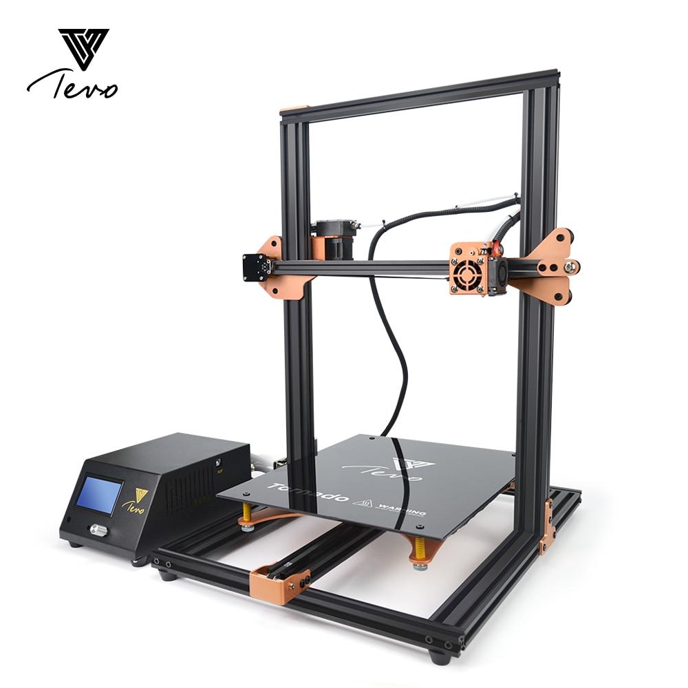 TEVO Tornado 95% Assemblé En Aluminium D'extrusion 3D Imprimante qualité supérieure impresora 3d imprimante Avec Titan Extrudeuse Carte Principale