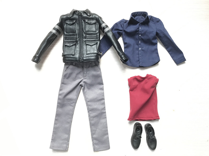 1/6 Scale Resident Evil 6 Leon Scott Kennedy Clothes Set Models for 12 Inches Action Figures Bodies Accessories 1 6 scale resident evil 6 leon scott kennedy full set action figure for collections