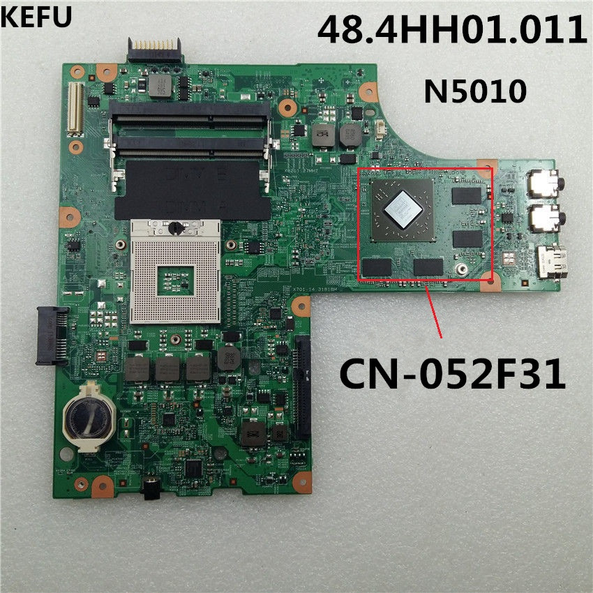 KEFU 48 4HH01 011 for DELL FOR INSPIRON 15R N5010 MOTHERBOARD 052F31 52F31 CN 052F31 laptop