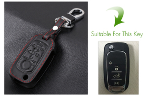 Image 2 - VCiiC Car Key Case Cover For Fiat 500X Toro Tipo Egea 3Button Remote Holder Flip Folding Leather Protector For Dodge Neon Key