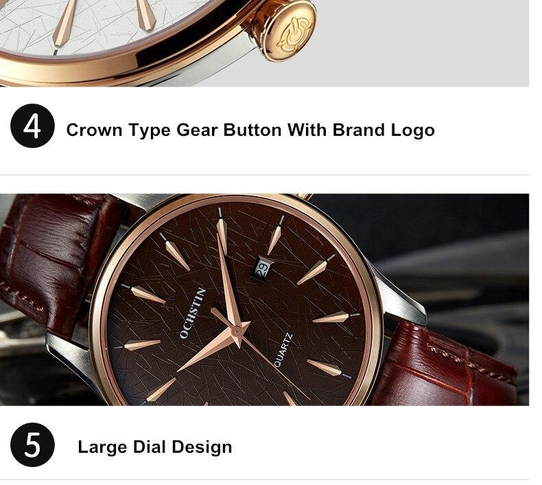 2016 Real Ochstin Marca de Luxo Relógios