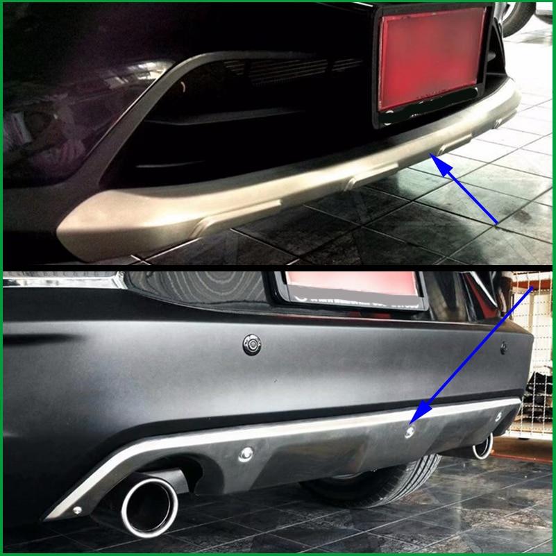 Для Mazda CX-3 CX3 2015 2016 2017 2018 нержавеющая сталь передний и задний бампер занос протектор гвардии заглушка стайлинга автомобилей Запчасти