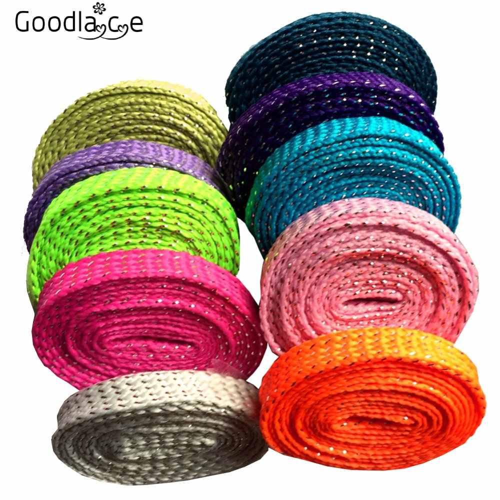 Shoe String Lace Glitter Fashion Metallic Sparkle Bling Shoelaces Unisex Sneaker
