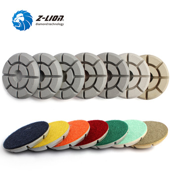 "Z-LION 7pcs/Set 4"" Diamond Floor Polishing Pads High Quality White Floor Grinding For Polisher  Stone Concrete Abrasive Tool"