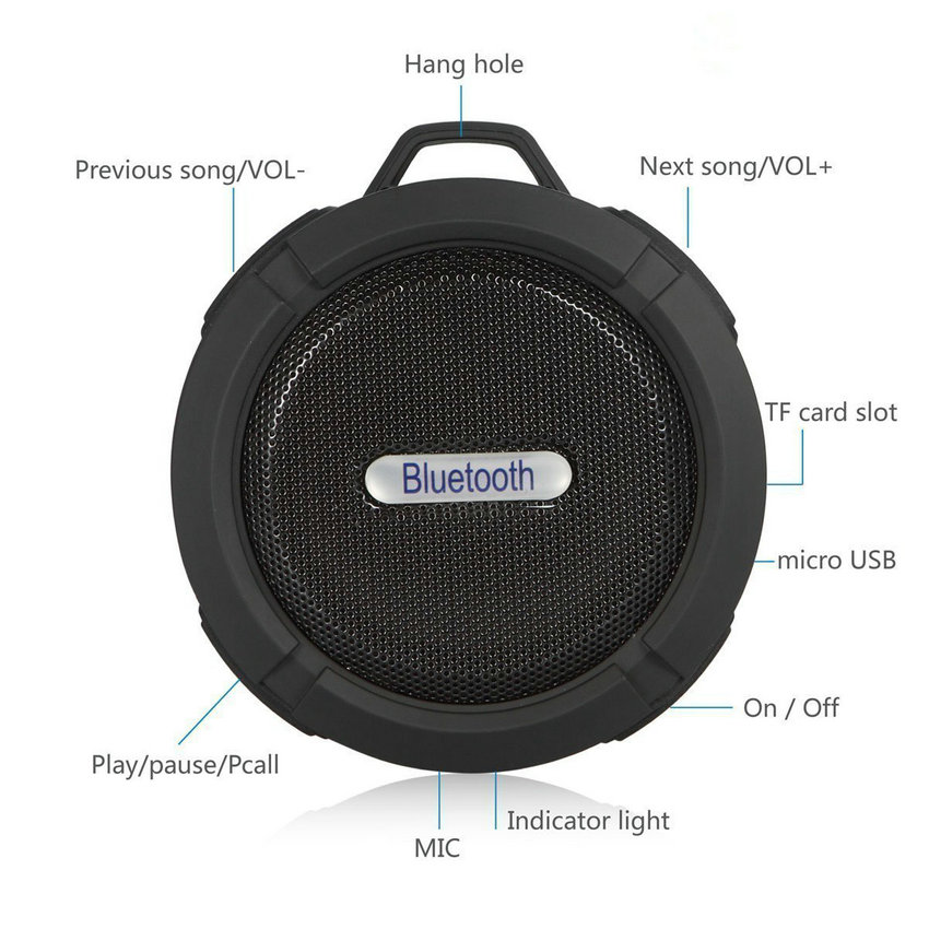 Mini Altavoz Bluetooth impermeable C6 Altavoces estéreo - Audio y video portátil - foto 3