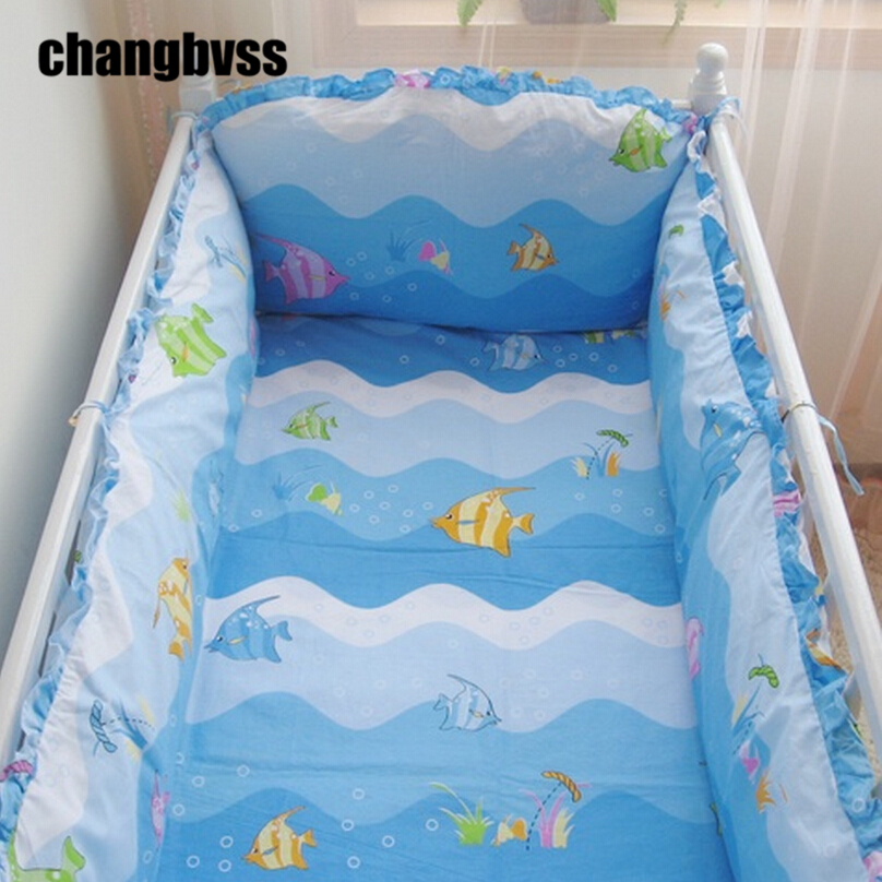 Breathable Baby Bed Bumper Bumper Blue Baby Crib