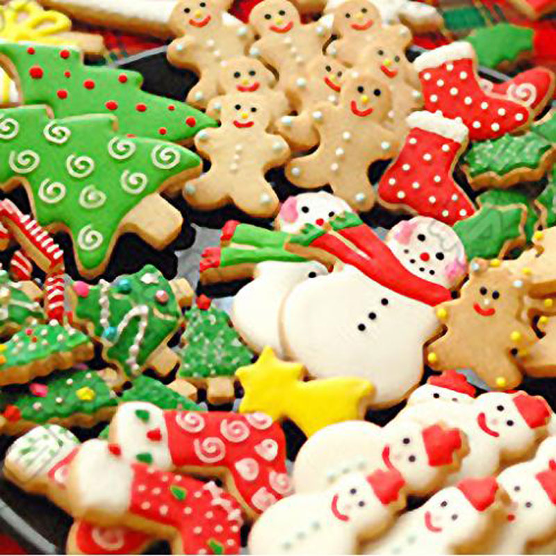 Us 1 48 Christmas Tree Shaped Aluminium Mold Sugar Craft Cake Decorating Tool Cookies Baking Pastry Cutter Mould Baking Tools For Cakes On