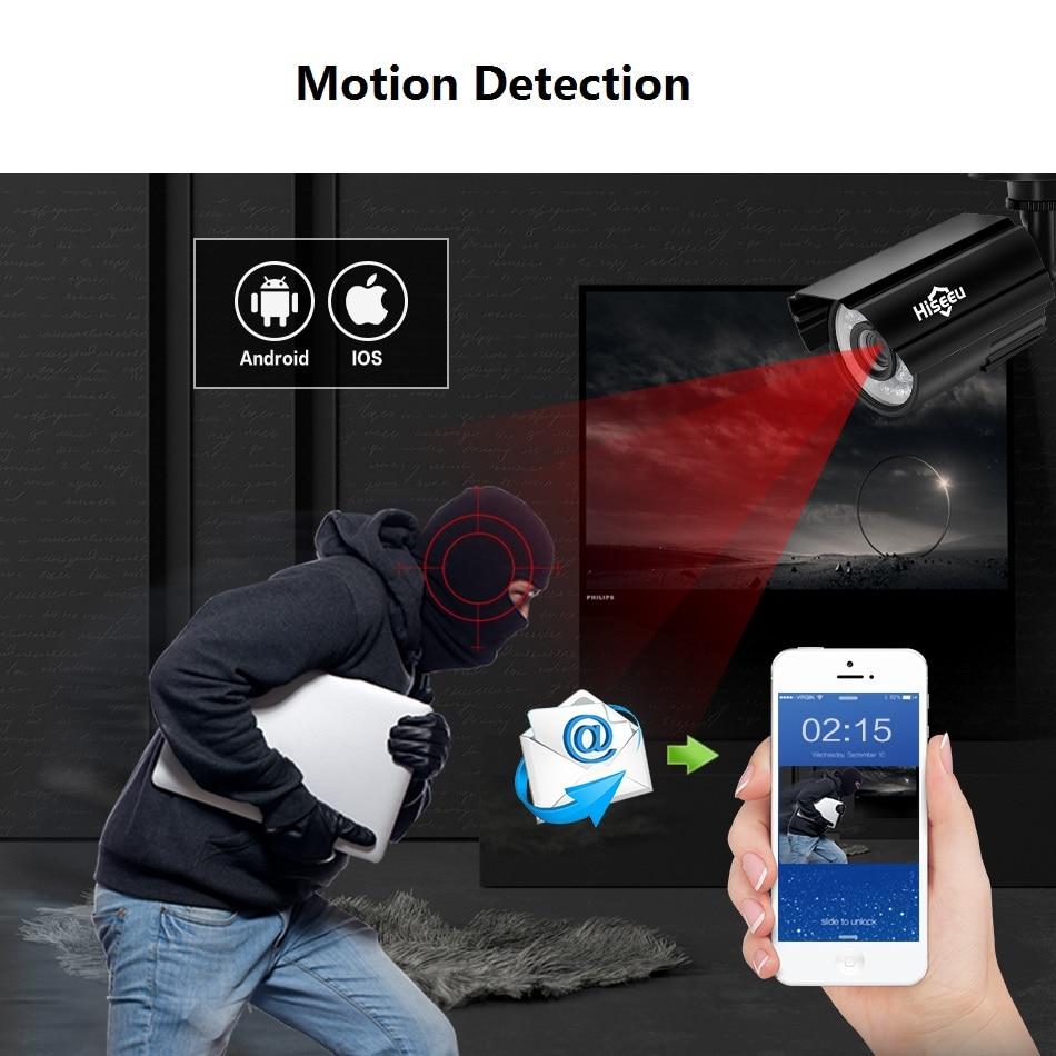 Sistema de cámara CCTV Hiseeu 4CH 720P / 1080P AHD Cámara de - Seguridad y protección - foto 3