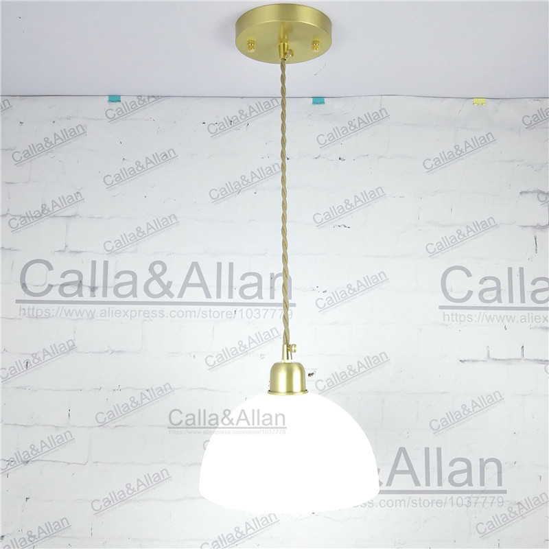 D200mm half white glass ball lampshade fabric wire pendant lamp d200mm half white glass ball lampshade fabric wire pendant lamp fixture brass drop modern home lighting bedroom cafe decoration in pendant lights from mozeypictures Image collections
