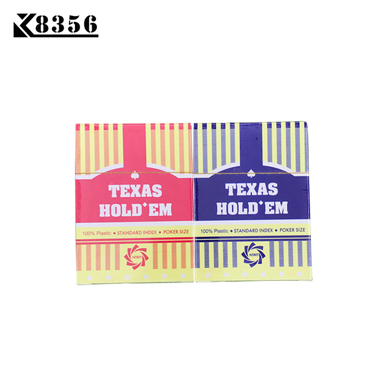 K8356 1Set Little Letters 2.48*3.46 inch Texas Holdem Plastic Playing Cards Waterproof Frosting Poker Cards Baccarat Board Game