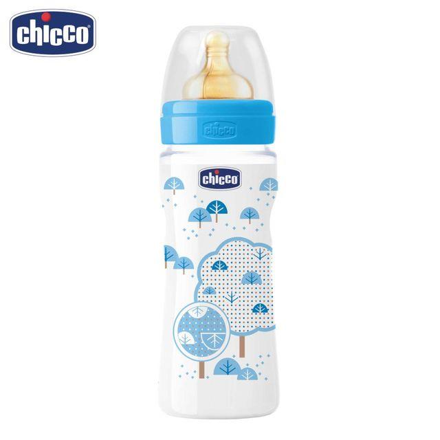 Бутылочка Chicco Well-Being Boy 4 мес.+, лат. соска, РР, средний поток, 330 мл