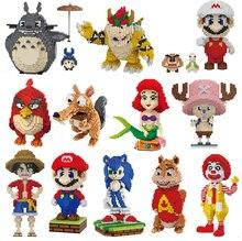 2017 Balody 미니 블록 빅 사이즈 마리오 DIY 빌딩 완구 대형 원피스 벽돌 귀여운 경매 Juguetes for Kids Toys 16001 16013