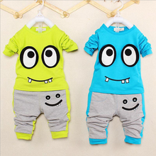 2014 Autumn Baby Boy Clothing Set Kids Cartoon Clothes Set For Boys High Quality Cotton Long Sleeve+Pants Free Shipping