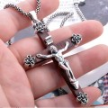 Handmade Thailand 925 Sterling Silver Jesus Cross Pendant vintage thai silver cross jewelry gift man jewelry jesus cross jewelry