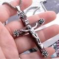 Handmade Thailand 925 Sterling Silver Jesus Cross Pendant vintage thai silver cross jewelry gift man jewelry jesus cross jewelry