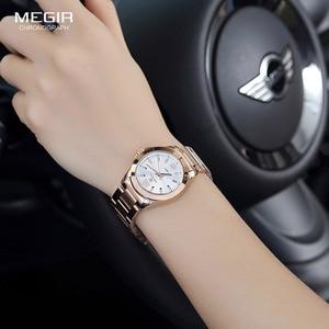 Image 4 - Women Couple Dress Wrist Watches Steel Simple Relogios Feminino Clock Woman Montre Femme Quartz Ladies Watch for Lovers MS5006L