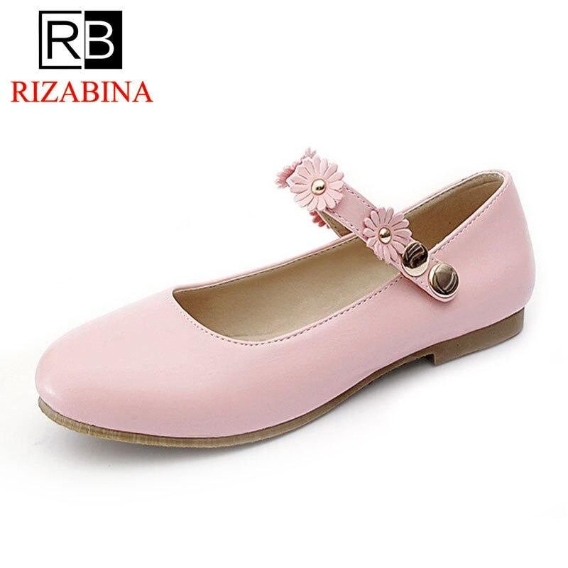 RizaBina Taille 32-43 Dames Appartements Chaussures Bout Pointu Femmes De Couleur de Sucrerie Chaussures Femme Peu Profonde Chaussures Quotidiennes Femmes Sweety Footwears