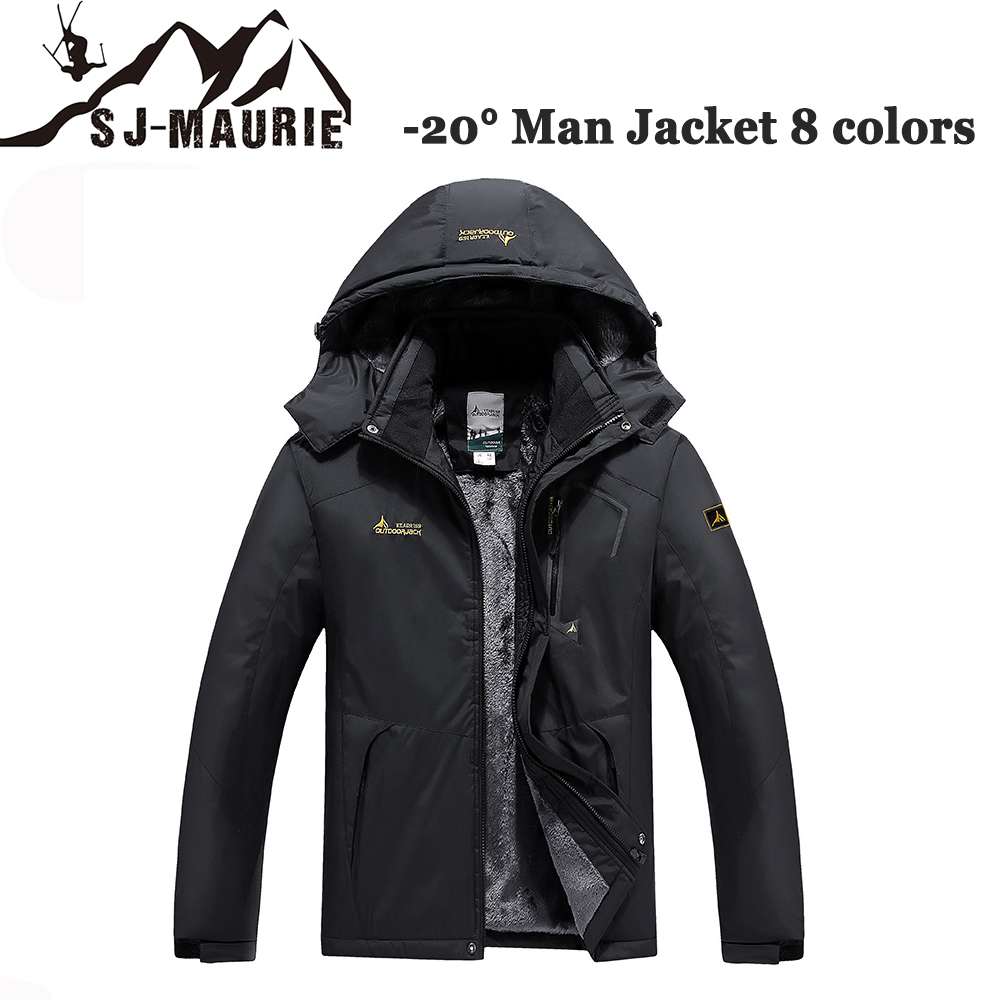 SJ Maurie 2019 Winter Hiking Jackets Windproof Camping Skiing Hunting Overcoat Below 20 Degrees Thermal Fleece