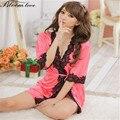 New Rayon Silk Sexy Lingerie Women Nightwear dresses Babydoll Satin lingerie robe nightgown Sexy nighty E203