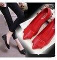 Весна Осень Мода лук острым носом балета плоские туфли ботинок квартир женщин женщина