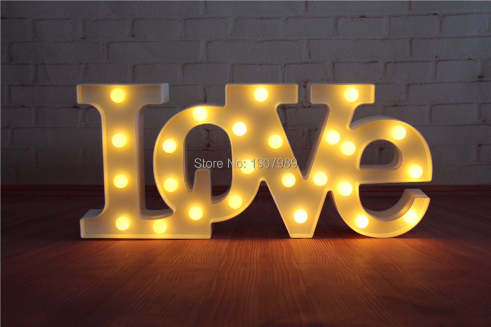 love red led marquee sign light up vintage adhesive letter love shape plastic light