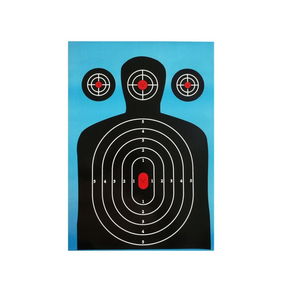 10pack Shooting Targets 12*18 Inch Silhouette Poor Splatter Reactive Paper Targets Fluorescent Rifle Pistol Airsoft Pellet Gun