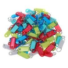 Кристально чистый красочный ключ ID бирки, 100 шт