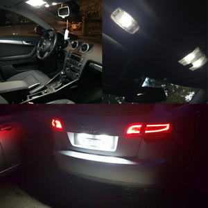Image 3 - 12PCs CAN bus Error Free White Led Interior Light Kit Package Replace Bulbs For Audi A3 8P Accessories 04 13 Car Styling