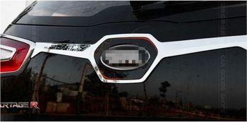 2011 2012 2014 201 Dongfeng yueda KIA Sportager высококачественные хромированные аксессуары хромированная крышка для багажника/крышка (рядом с логотипом)