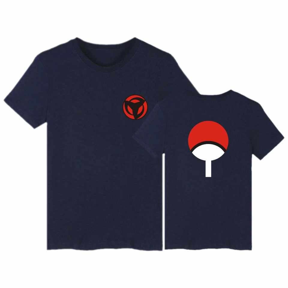 LUCKYFRIDAYF Naruto T-shirt Mannen Hokage Ninjia Korte Mouw Tee Shirt Katoen Uchiha Syaringan Tshirt Grappige Anime Fashion Custom