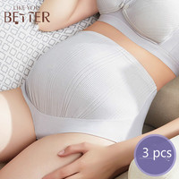 3 pieces maternity underwear panties pure cotton high waist no antibacterial supports the abdomen breathable intimates