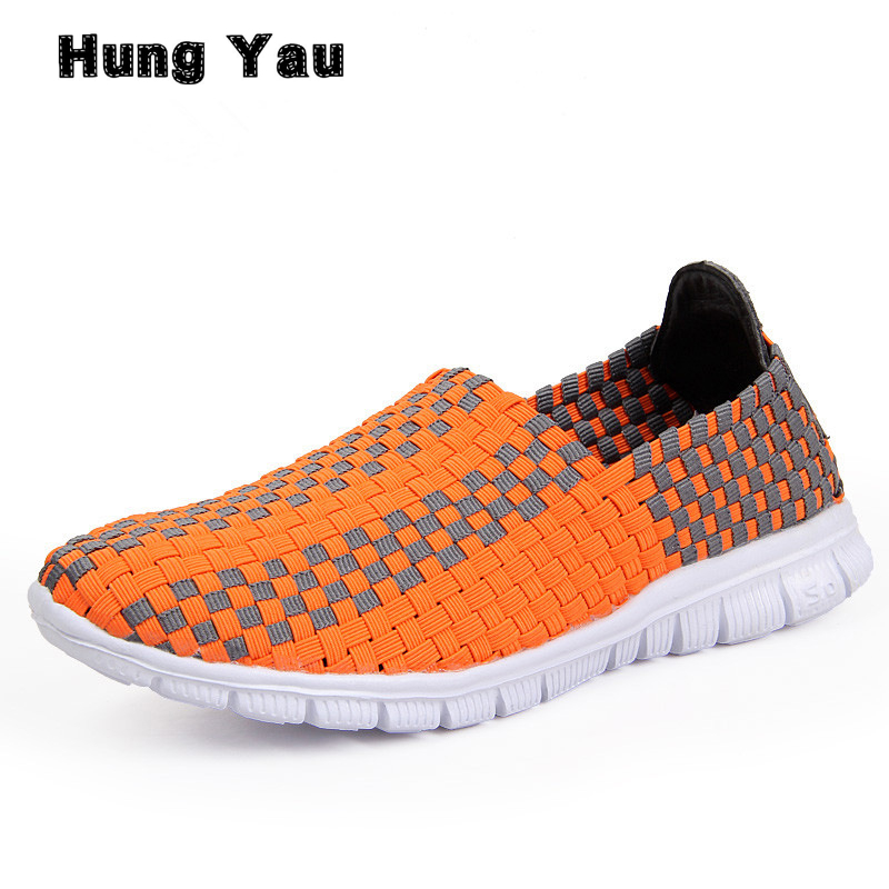Hung Yau Women Flats Shallow Loafers Spring Summer Style Shoes Female Colorful Breathable Walking Woven Lady Shoes Plus  Size 44 women loafers casual shoes female round toe slip on wide shallow flats lady shoes oxford spring summer shoes for women or910314