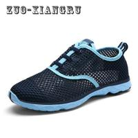 New Air Mesh Casual Shoes For Men Spring And Summer Breathable Mesh Leisure Shoes Lightweight Lace