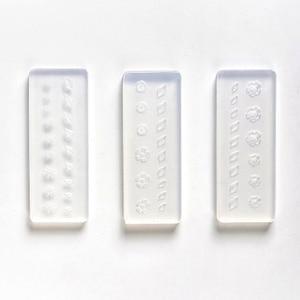 Image 2 - 3D Acryl Form für Nagel Kunst Dekorationen DIY Polnischen Werkzeug Silikon Formen Nail art Vorlagen Muster Form Nägel Kunst Salon design
