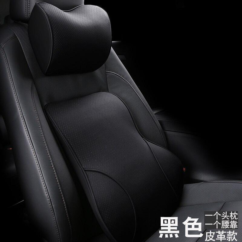 Oreiller de cou de voiture soutien lombaire de taille appui-tête oreillers coussin de dos soutien de siège en mousse à mémoire de forme housses de siège accessoires Auto