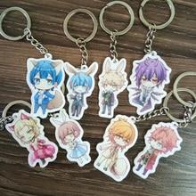8PCS/SET Anime Keychain Dance With Devils Tachibana Ritsuka Kaginuki Sogami Tachibana Portachiavi Pendant Keyring Collect