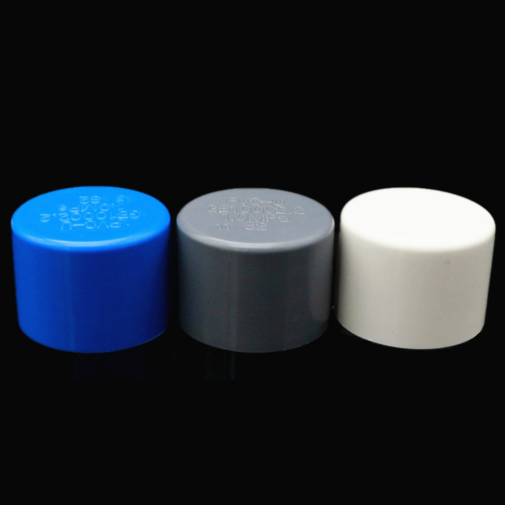 PVC Pipe Fitting Plastic Plug Cap Suet 20 25 32 40 50 63mm Pipe Plug Cap Stuffy Sub