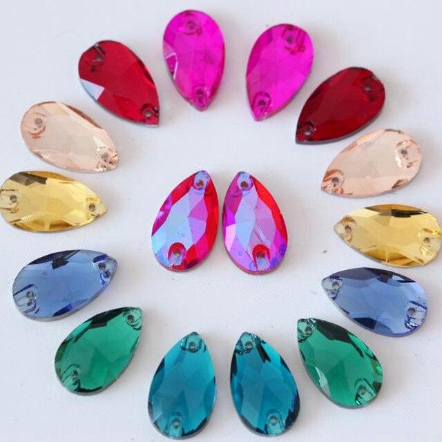 13x22mm 20pcs All Colors Dropwater Transfer Design Crystal Stones Sew on Rhinestone  Sew-on Rhinestones c0d731677b0d
