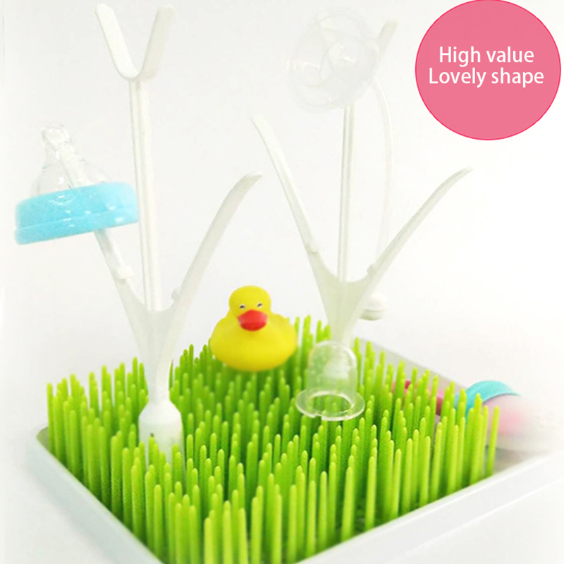 Antibiotic Bottle Drying Rack Baby Feeding Bottles Cleaning Dryer Cup Holder Tree Grass Design For Baby Dishes Nipple Pacifier
