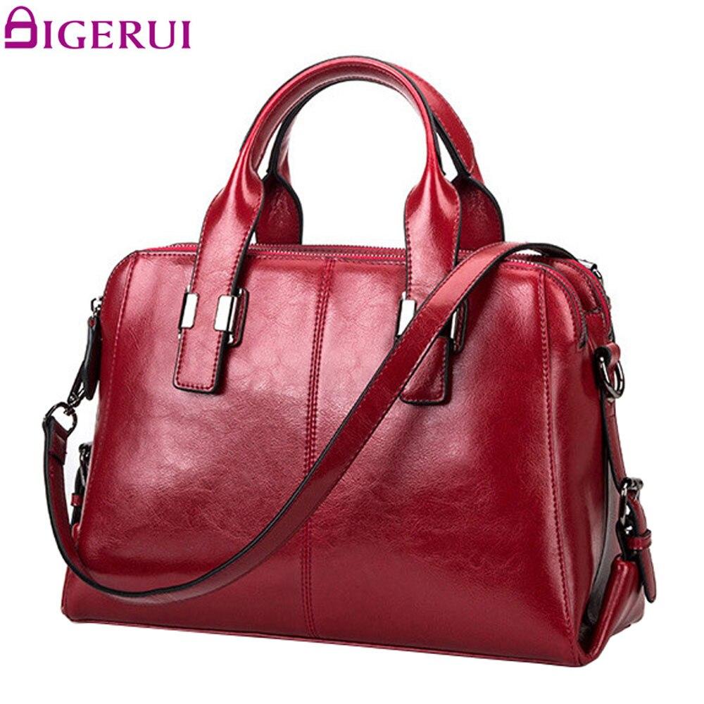 DIGERUI femmes en cuir véritable sacs Totes Messenger sacs Designer de luxe marque sac femme sac à main en cuir de vache sacs à main SJ011-in Sacs à poignées supérieures from Baggages et sacs    1