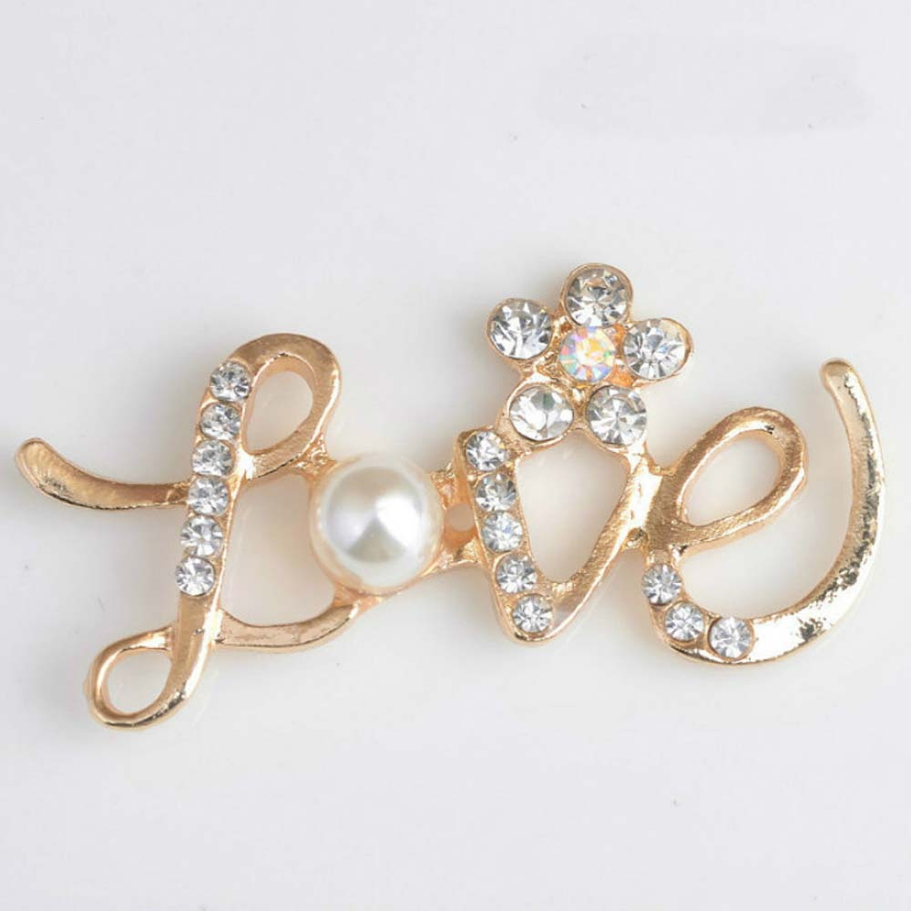 ... DIY Hair Bow Wedding Shoes Decorative. US  3.99. 10pcs lot 24 47mm Pearl  Gold Love Letter Rhinestone Buttons Flatback Embellishment for Craft 2bf3df2b6a6b