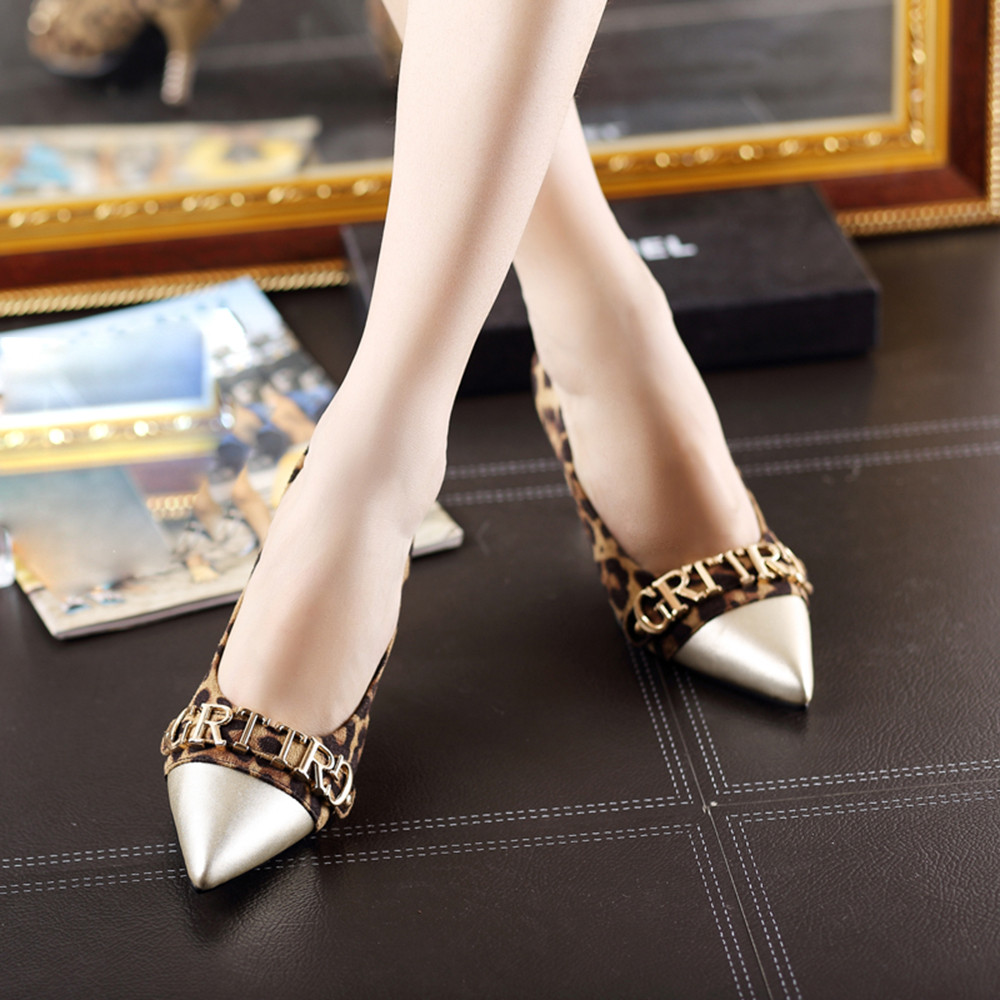 Mujer Hauts Zapatos Plate Tacon Femmes Stiletto Simples Dame À 2019 91 Talon Léopard Chaussures A forme Mode Haut Talons De zBOnIwwxqS