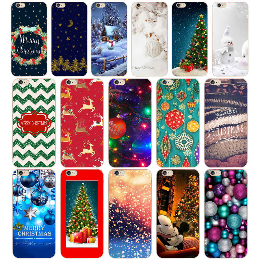 25 Christmas Holiday Tree New Year For Cases Iphone 6 6S 7 8 Case Pattern Soft TPU Silicone Cover For Apple Iphone 6 6S 7 8 Case