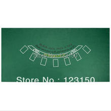 Water Resistant Blackjack Green Table Felt for Home Fun Casino Den Man Cave Accessories
